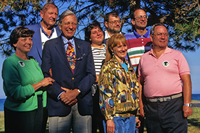 REP members and directors attend their first meeting at Illinois Beach State Park in 1997.