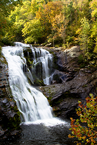 Bald RIver Waterfall at Tellico River in Cherokee National Forest in Tennessee. (photo © Martha Marks)