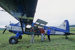 The Coyote Air 4-seater plane that flew the REP group in two rounds in and out of the Arctic Refuge.