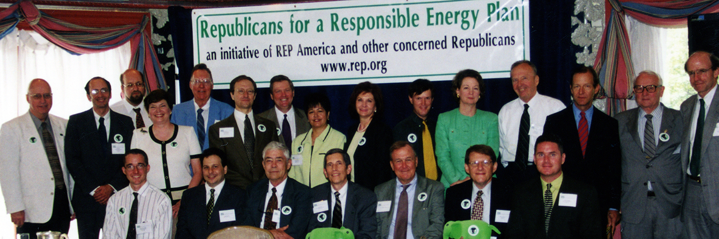 "Participants at REP's 2001 ""Republicans for a Responsible Energy Plan"" conference in Washington, DC."