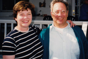 Martha Marks and Sam Booher at a 1999 REP event on Florida's Atlantic coast.