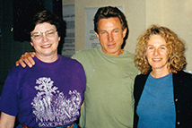 Two REP members with singer-songwriter Carole King.