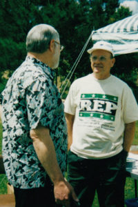 Chester Sansbury tables for REP on Earth Day 2000