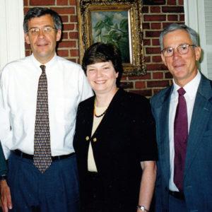 New Hampshire Senator Rick Russman (l) and Jameson French (r) with Martha Marks