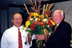 Sam Booher with Congresman Vern Ehlers