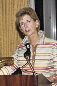Former Governor and EPA Administrator Christine Todd Whitman speaks at REP's Tenth Anniversary Conference in Chicago in 2005